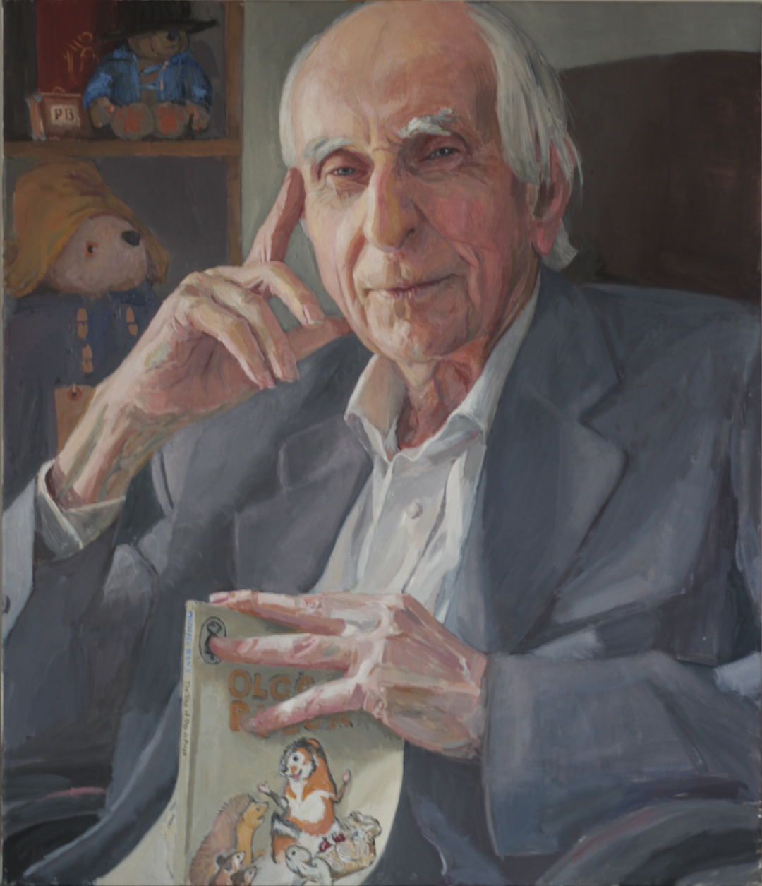Hero Johnson. Painting of Michael Bond, Royal Society of Portrait Painters 2017.