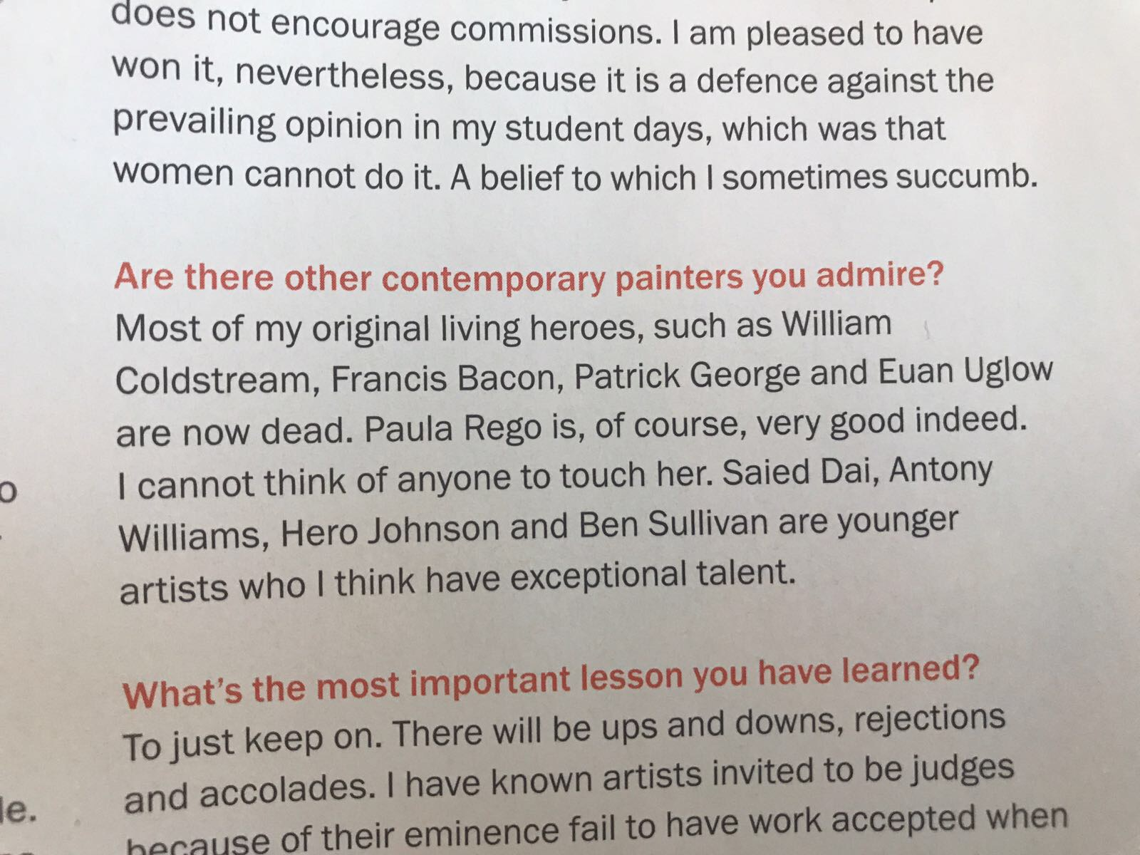 Excerpt of interview with Daphne Todd OBE citing Hero Johnson