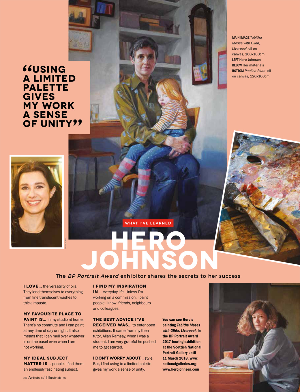 An interview with the artist Hero Johnson in Artists and Illustrators magazine.