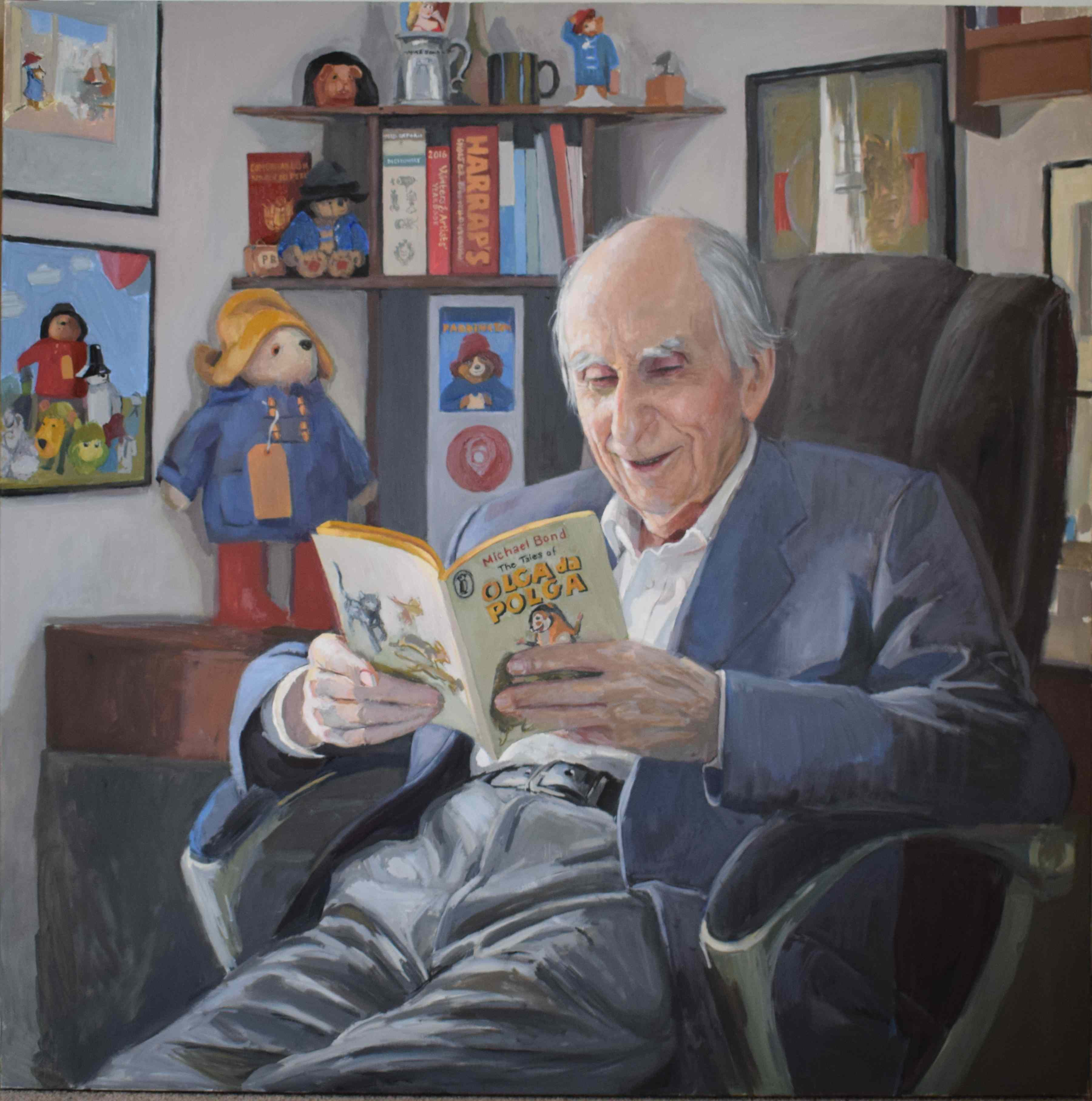 Hero Johnson's second portrait of Michael Bond CBE