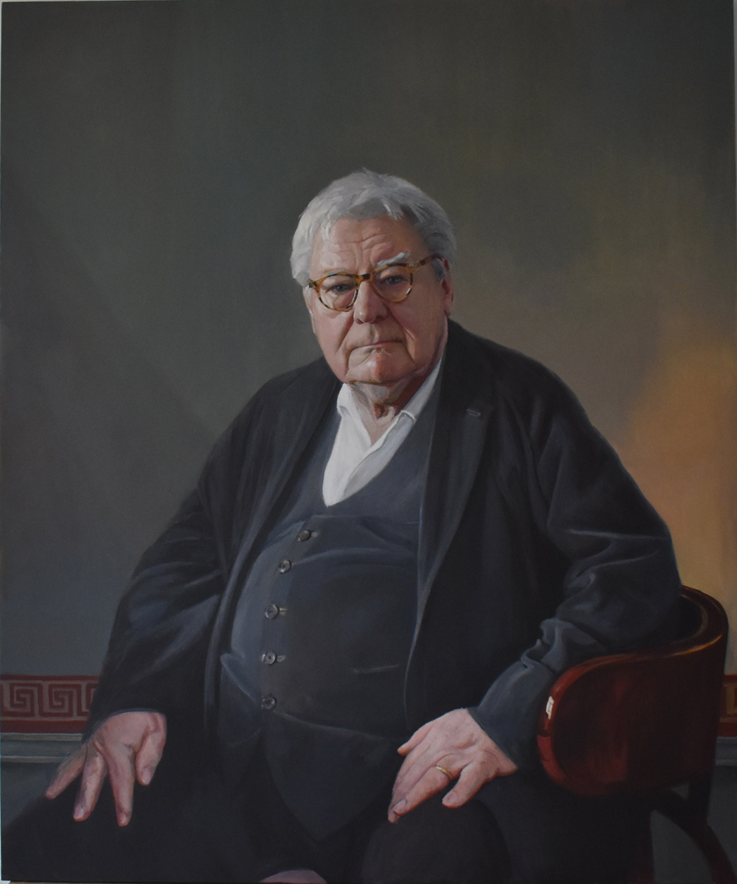 Hero Johnson, Sir Alan Parker. Royal Society of Portrait Painters 2018.