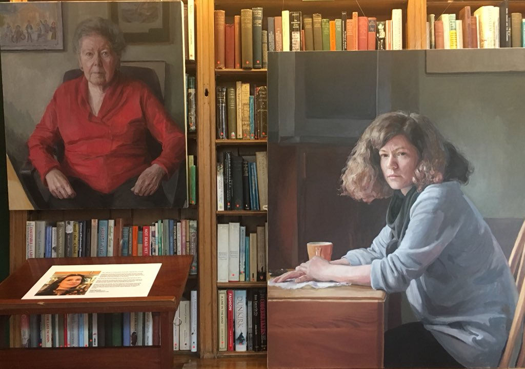 Hero Johnson's paintings of Barbara Hosking and Paulina Pluta