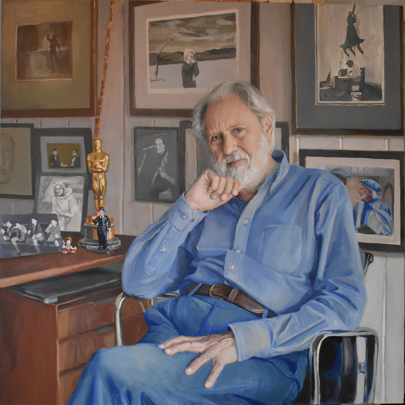 David Puttnam painted by Hero Johnson