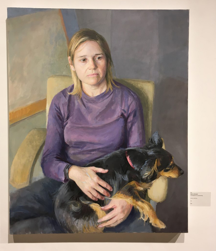 Hero Johnson's painting of Donna Katchis