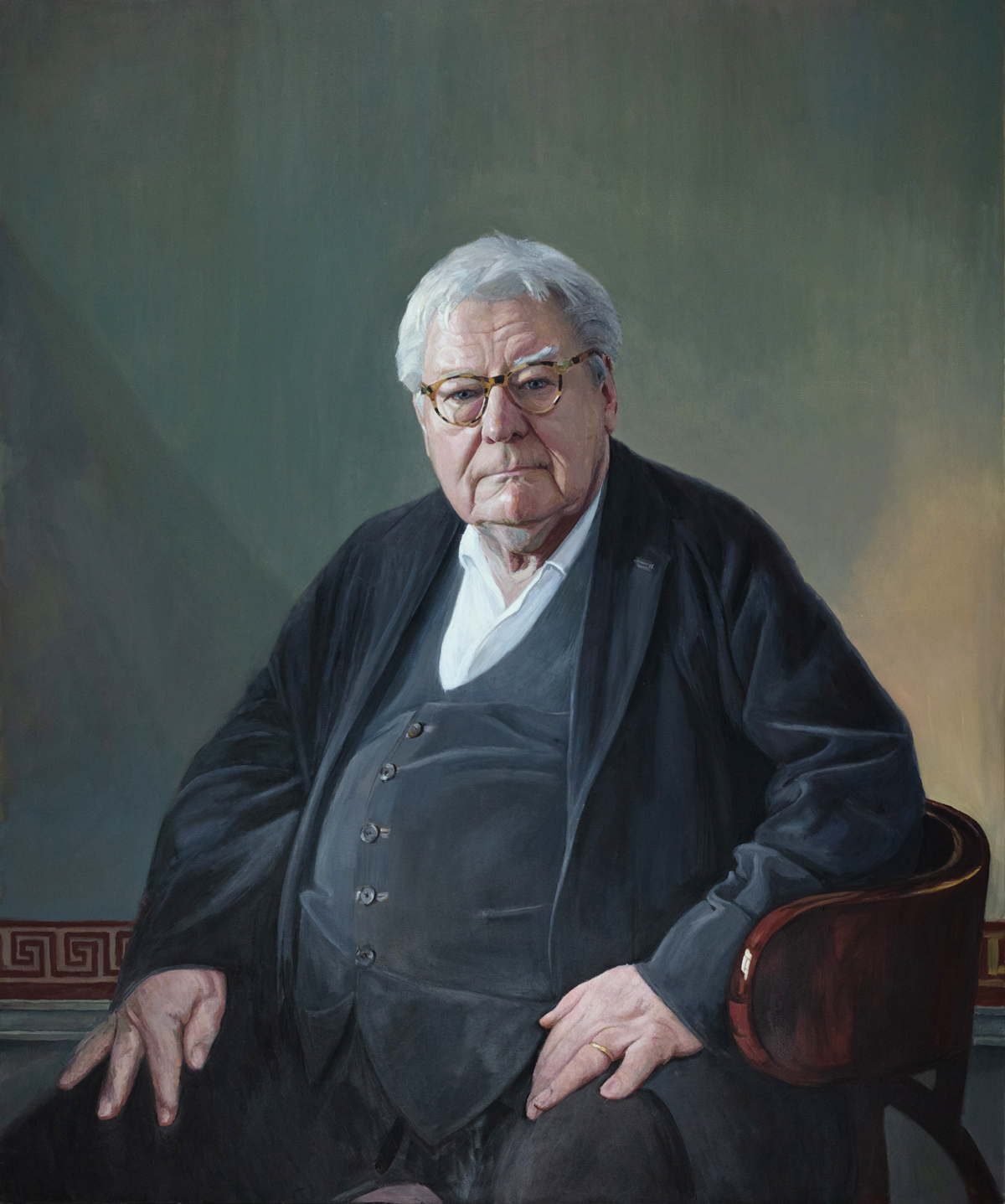 Sir Alan Parker painted by Hero Johnson