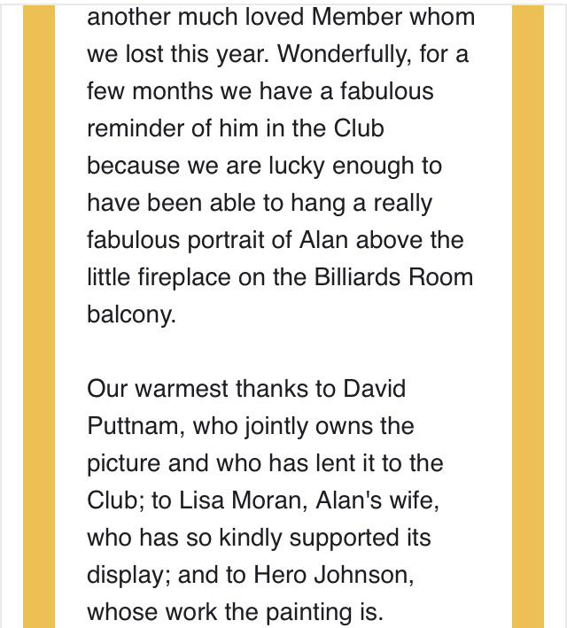 Sir Alan Parker by Hero Johnson