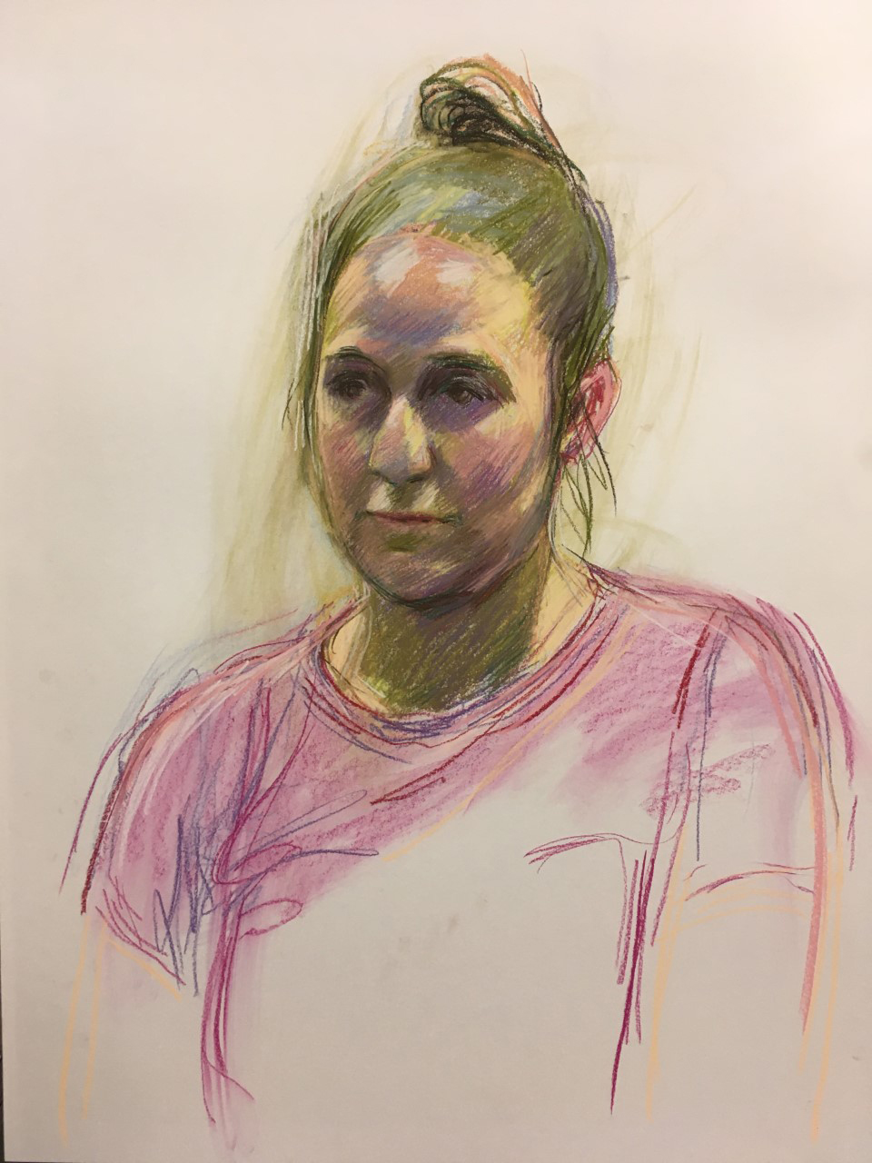 Portrait of a woman in soft pastels by Hero Johnson